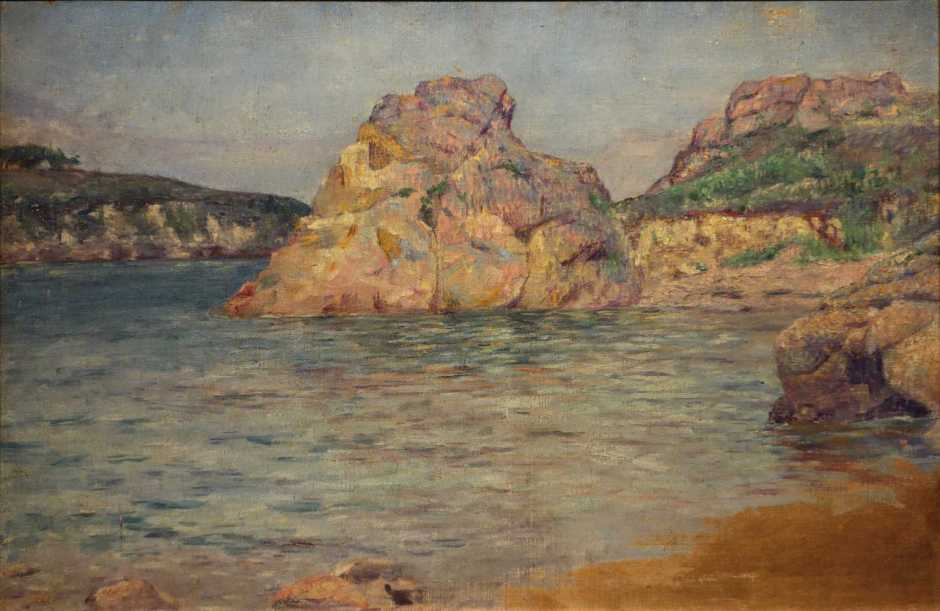 Kume Keiichirō, An Island, Bréhat (1891), oil, 41 x 62 cm, National Museum of Modern Art, Tokyo. By Daderot, via Wikimedia Commons.