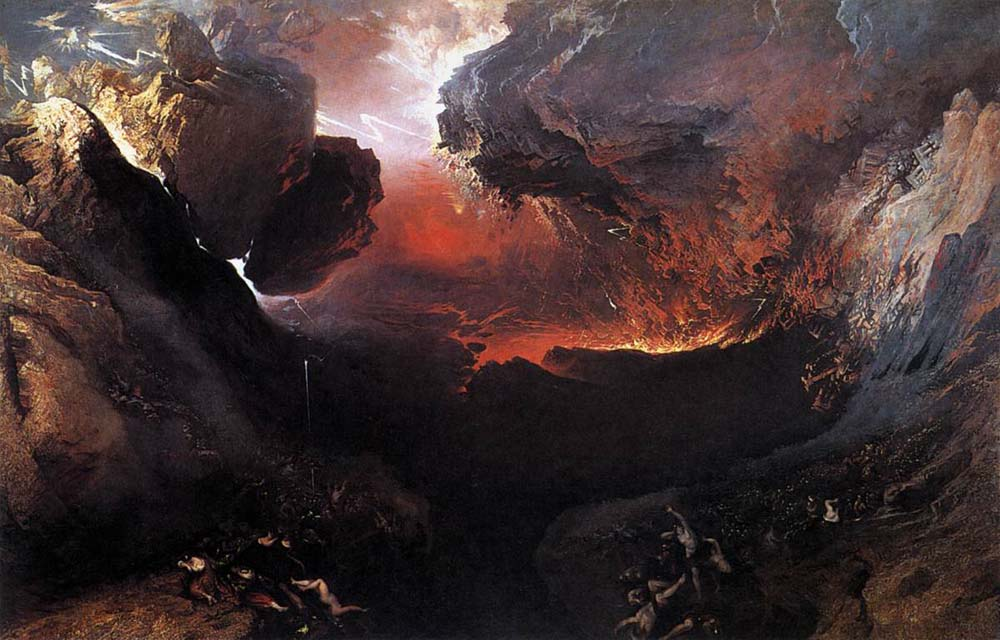 John Martin, The Great Day of his Wrath (1851-3), oil on canvas, 196.5 x 303.2 cm, The Tate Gallery, London. Wikimedia Commons.