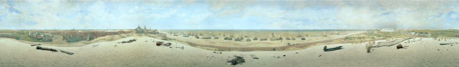 Hendrik Willem Mesdag, Panorama Mesdag (1880-1), media not known, 1400 x 12000 cm, Panorama Mesdag, Den Haag. Wikimedia Commons.