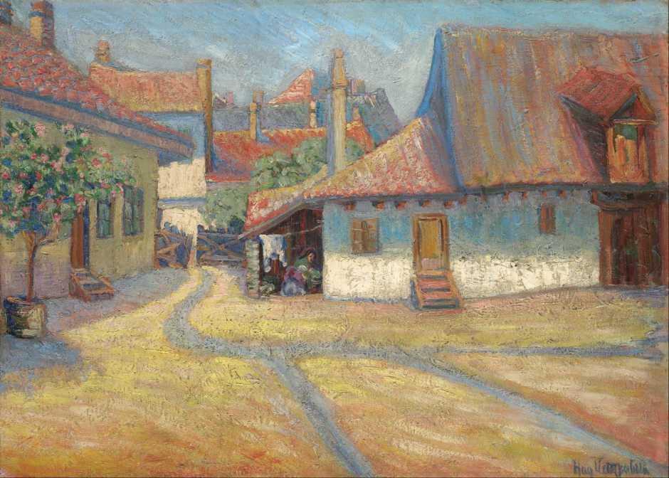 Nadežda Petrović, Belgrade Suburb (1908), oil on canvas, 65.3 x 90.7 cm, Pavle Beljanski Memorial Collection, Novi Sad. Wikimedia Commons.