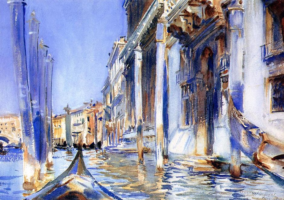 John Singer Sargent (1856-1925), Rio dell Angelo (1902), watercolour, 24.8 x 34.9 cm, Private collection. WikiArt.