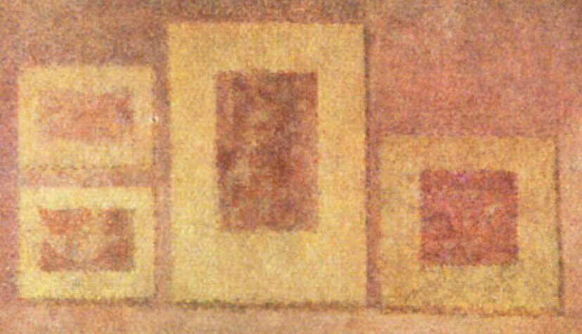 Georges Seurat, Poseuses (detail) (1886-8), oil on canvas, 200 x 249.9 cm, The Barnes Foundation, Philadelphia. WikiArt.