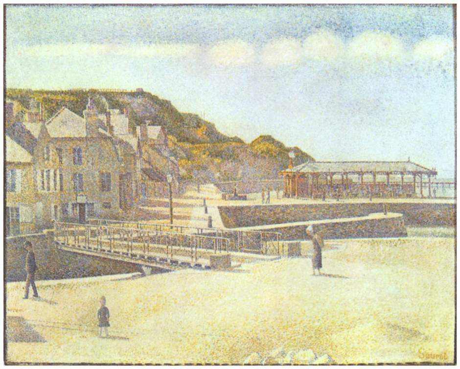 Georges Seurat, Port-en-Bessin, The Bridge and the Quays (1888), oil on canvas, 66 x 83.2 cm, Minneapolis Museum of Arts, Minneapolis, MN. Wikimedia Commons.