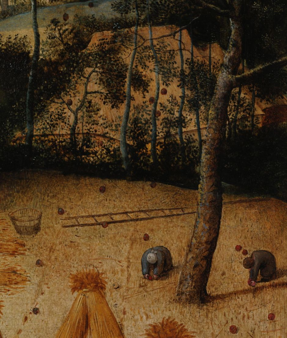 Pieter Bruegel the Elder, The Harvesters (detail) (1565), oil on panel, 119 x 162 cm, Metropolitan Museum of Art, New York, NY. Wikimedia Commons.