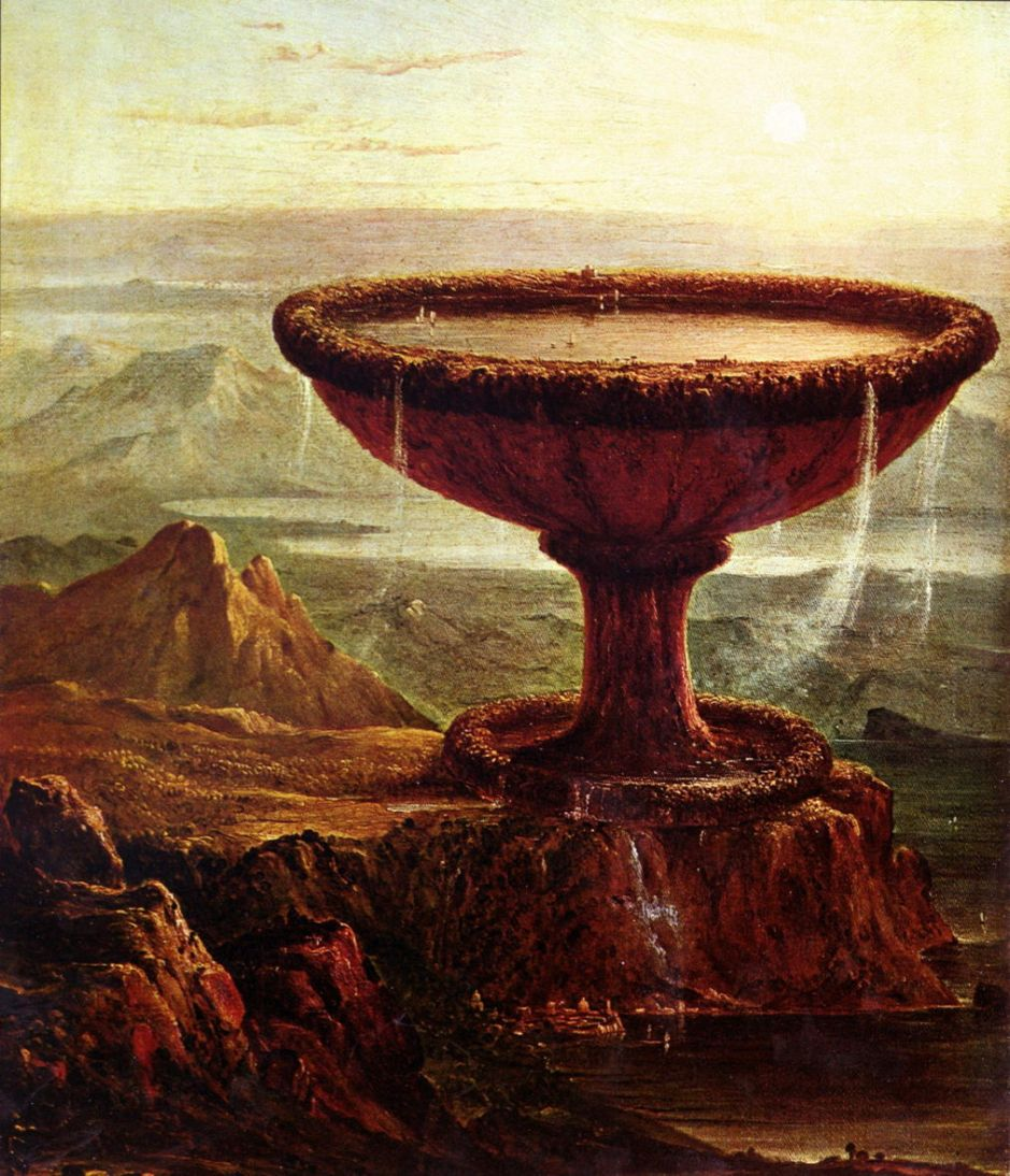 Thomas Cole, The Titan's Goblet (1833), oil on canvas, 49 x 41 cm, Metropolitan Museum of Art, New York, NY. WikiArt.