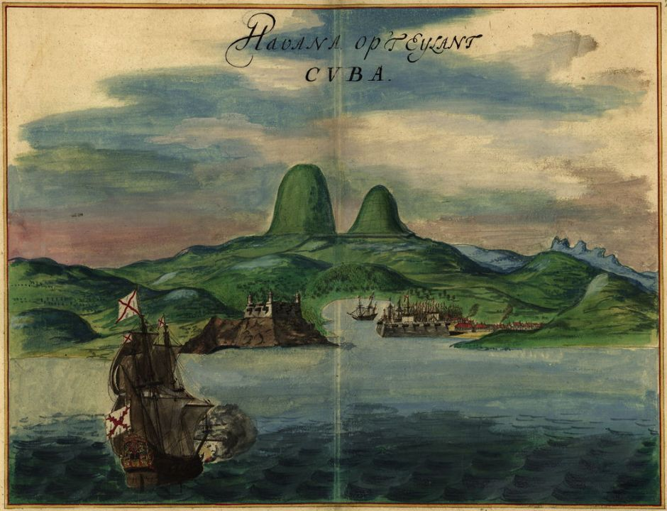 Joan Vinckeboons (1617–70), Havana, Cuba (c 1639), pen, ink and watercolour, dimensions not known, Henry Harrisse Collection, Library of Congress, Washington, DC. Wikimedia Commons.