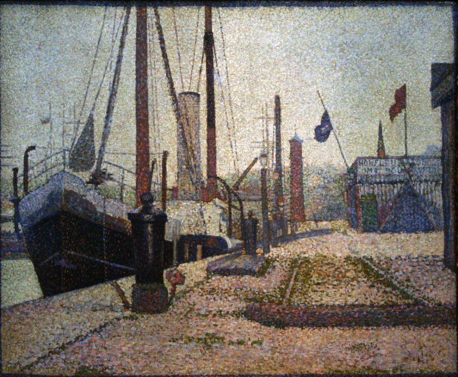 Georges Seurat, The Maria, Honfleur (1886), oil on canvas, 53 x 63.5 cm, National Museum, Prague. Wikimedia Commons.