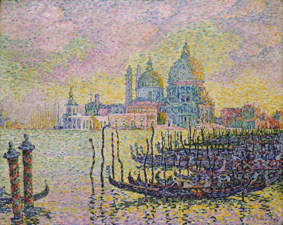 Paul Signac (1863-1935), Le Grand Canal, Venice (1905), oil on canvas, 73.5 x 92.1 cm, Toledo Museum of Art, Toledo, OH. WikiArt.