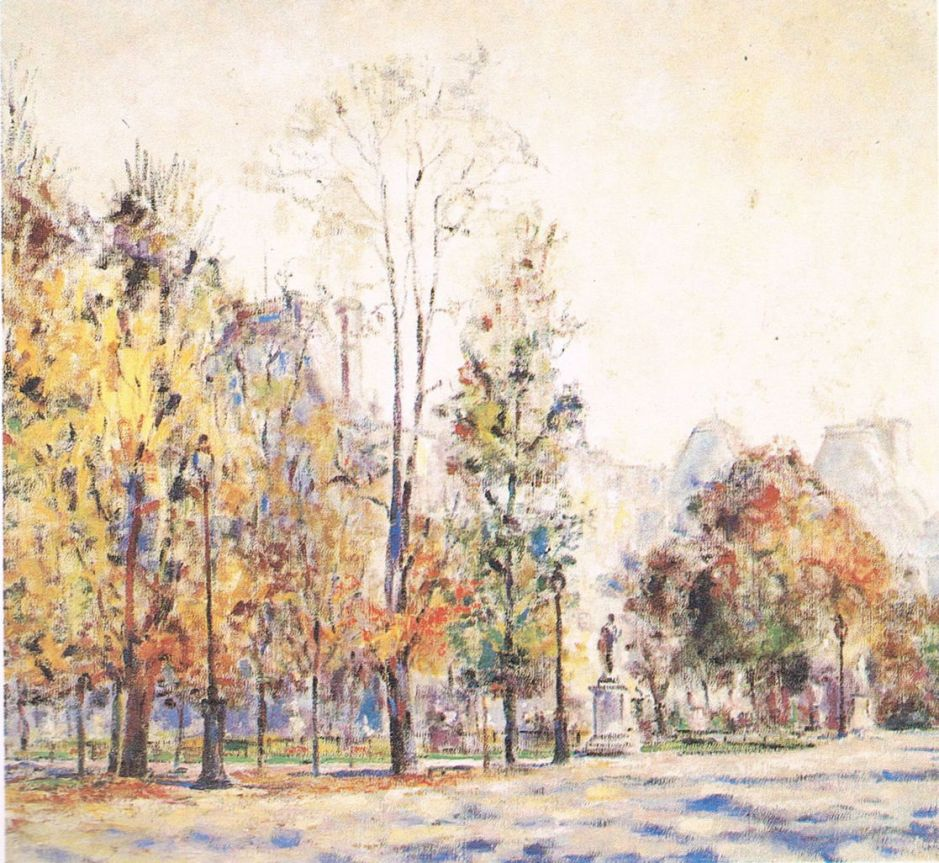 Pierre Thévenet (1870-1937), The Tuileries Gardens in Autumn (1922). Wikimedia Commons.