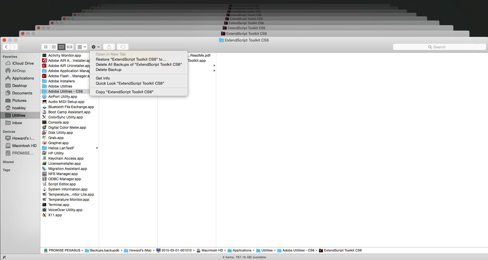 how to restore just hard drive from backup time machine