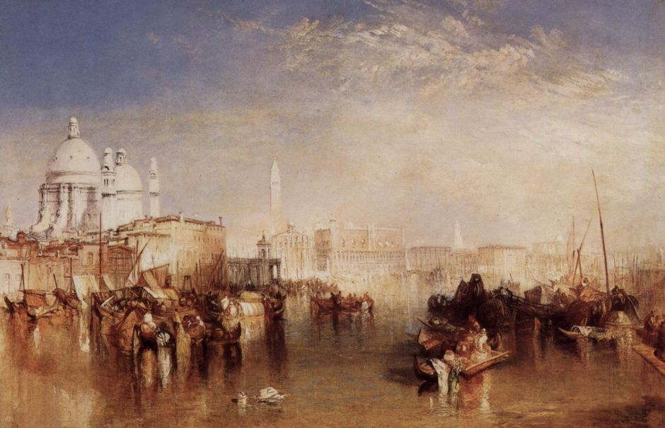 JMW Turner, Venice from the Giudecca (1840), oil on canvas, 61 x 91.4 cm, Victoria & Albert Museum, London. WikiArt.