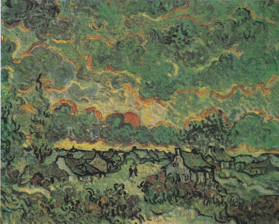 Vincent van Gogh, Reminiscence of Brabant (1890), oil on panel, 29.4 x 36.5 cm, Van Gogh Museum, Amsterdam. Wikimedia Commons.