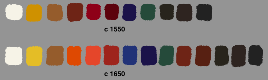 Example palettes during this period.