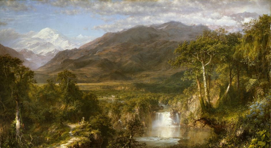 Frederic Edwin Church (1826-1900), The Heart of the Andes (1859), oil on canvas, 168 x 302.9 cm, The Metropolitan Museum of Art, New York, NY. Wikimedia Commons.