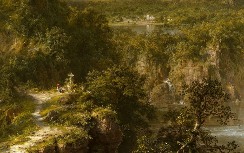Frederic Edwin Church (1826-1900), The Heart of the Andes (detail) (1859), oil on canvas, 168 x 302.9 cm, The Metropolitan Museum of Art, New York, NY. Wikimedia Commons.