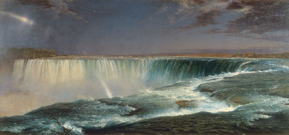 Frederic Edwin Church (1826-1900), Niagara (1857), oil on canvas, 101.6 x 229.9 cm, National Gallery of Art, Washington, DC. Wikimedia Commons.