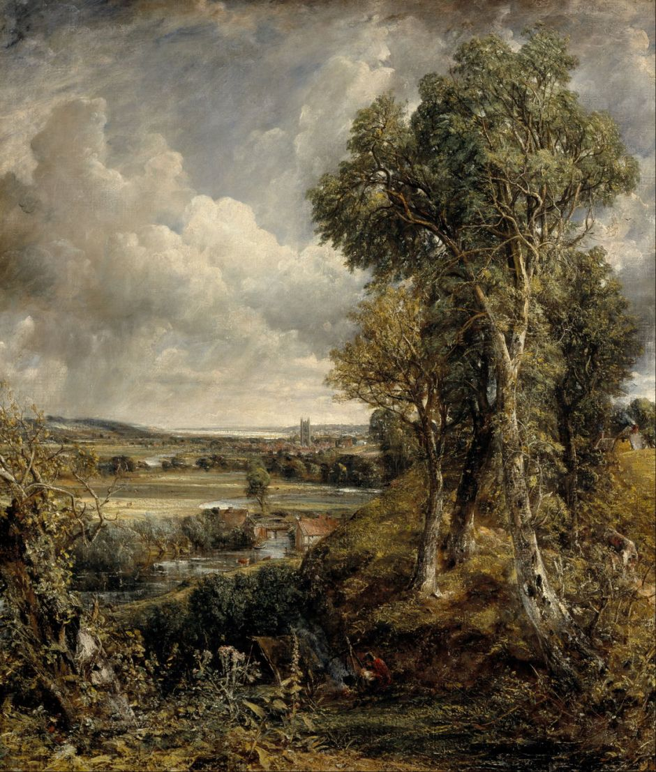 John Constable (1776–1837), The Vale of Dedham (1828), oil on canvas, 122 x 144.5 cm, Scottish National Gallery, Edinburgh. Wikimedia Commons.