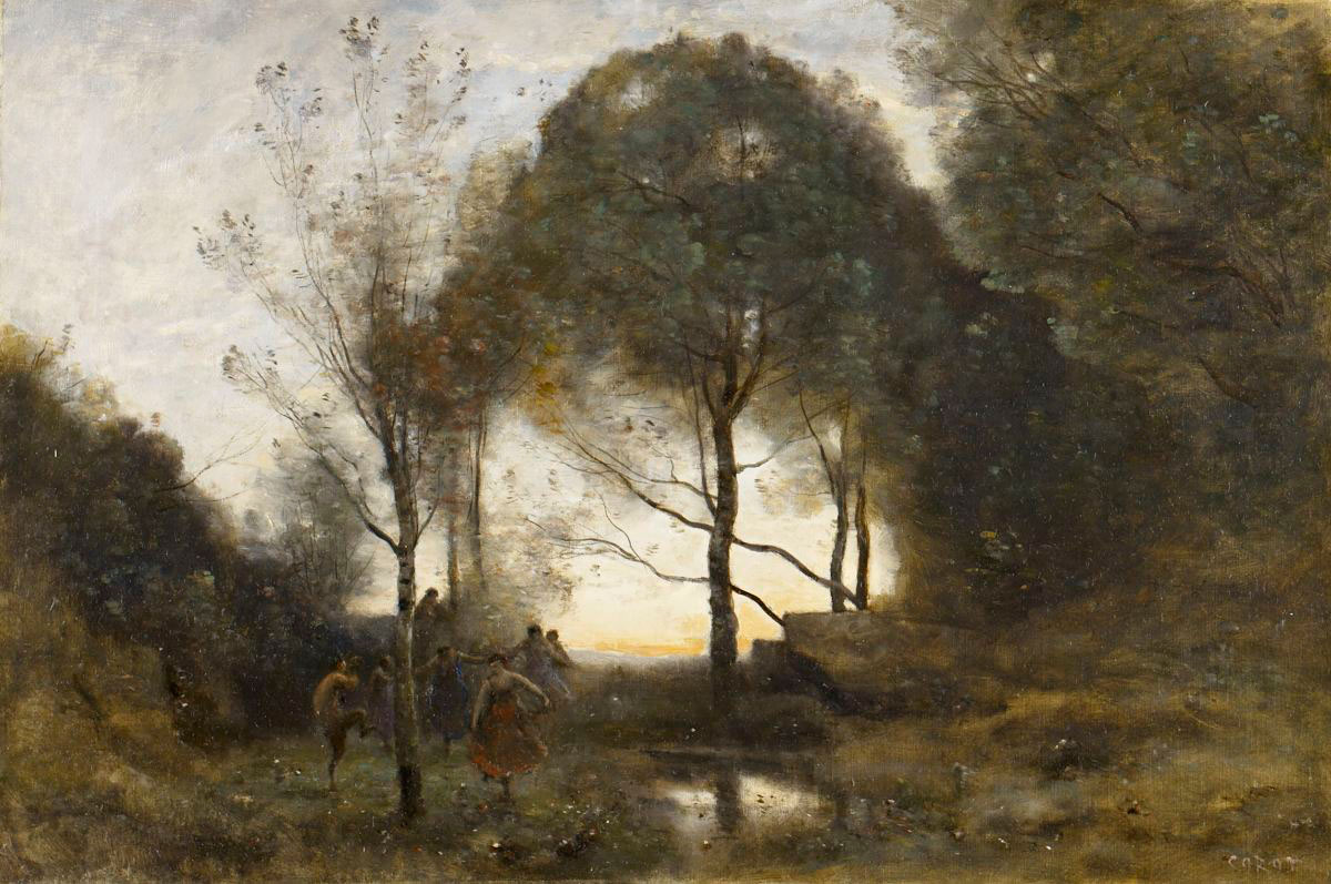 Trees in the landscape 3 corot the crossroad to modern for Camille corot