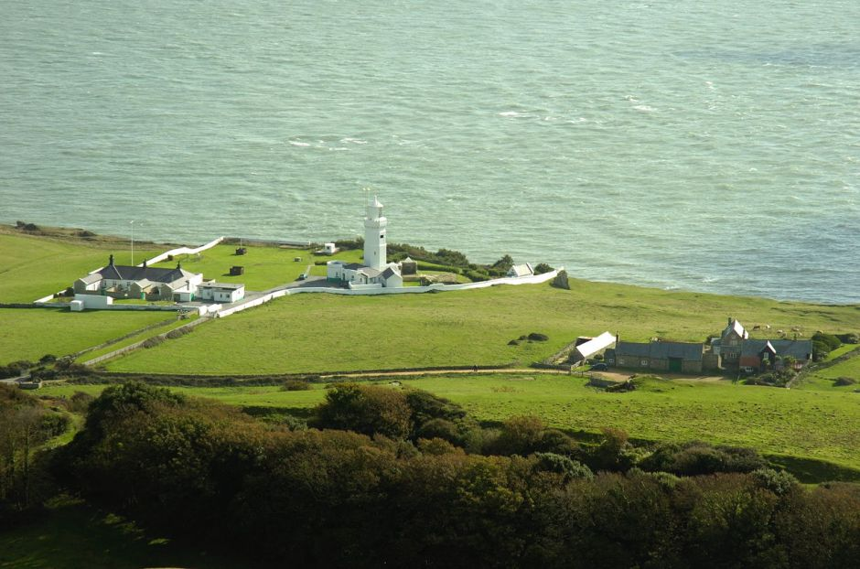 The Saint Catherine's Lighthouse site of the world's first radio station, Isle of Wight, UK. © EHN & DIJ Oakley.