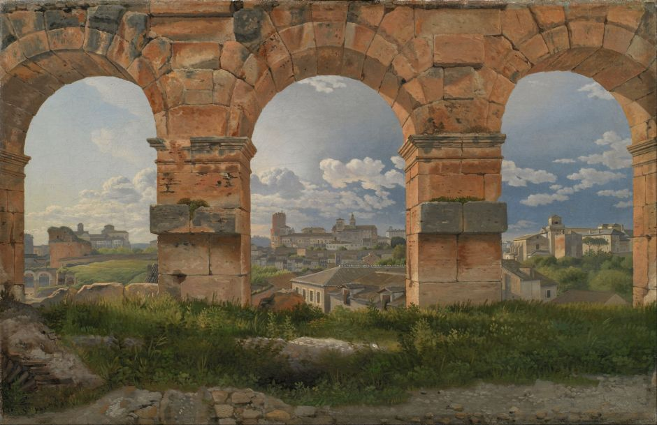 Christoffer Wilhelm Eckersberg (1783-1853), A View through Three of the Arches of the Coliseum in Rome (1815), oil on canvas, 32 x 49.5 cm, Statens Museum for Kunst, København. Wikimedia Commons.