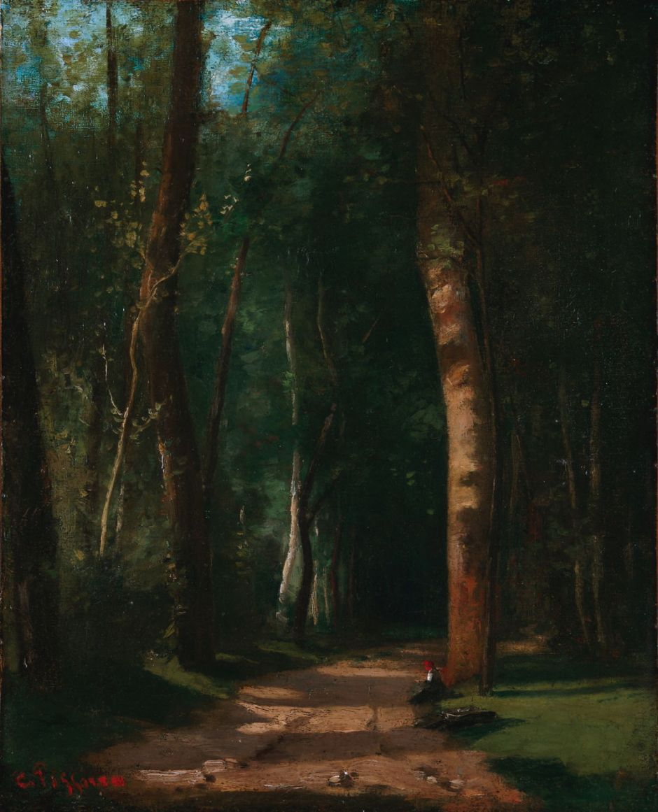 Camille Pissarro (1830-1903), Forest Path (c 1859), oil on canvas, 41 x 33 cm, Private collection. Wikimedia Commons.