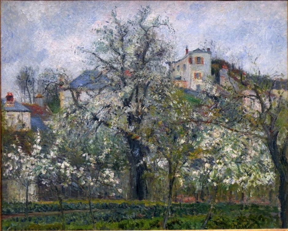 Camille Pissarro (1830-1903), The Jardin de Maubuisson, Pontoise, Spring (1877), oil on canvas, 65 x 81 cm, Musée d'Orsay, Paris. EHN & DIJ Oakley.