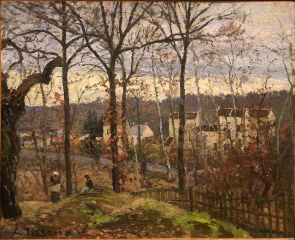 Camille Pissarro (1830-1903), Winter Landscape at Louveciennes (c 1869), oil on canvas, 37 x 46 cm, Musée d'Orsay, Paris. EHN & DIJ Oakley.