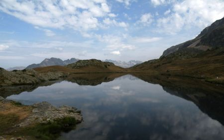 Photograph of extensive reflections on water, Lac Besson, Alpe d'Huez. EHN & DIJ Oakley.
