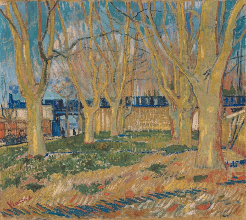 Vincent van Gogh (1853–1890), The Blue Train (Viaduct in Arles) (1888), oil on canvas, 46 x 49.5 cm, Musée Rodin, Paris. Wikimedia Commons.