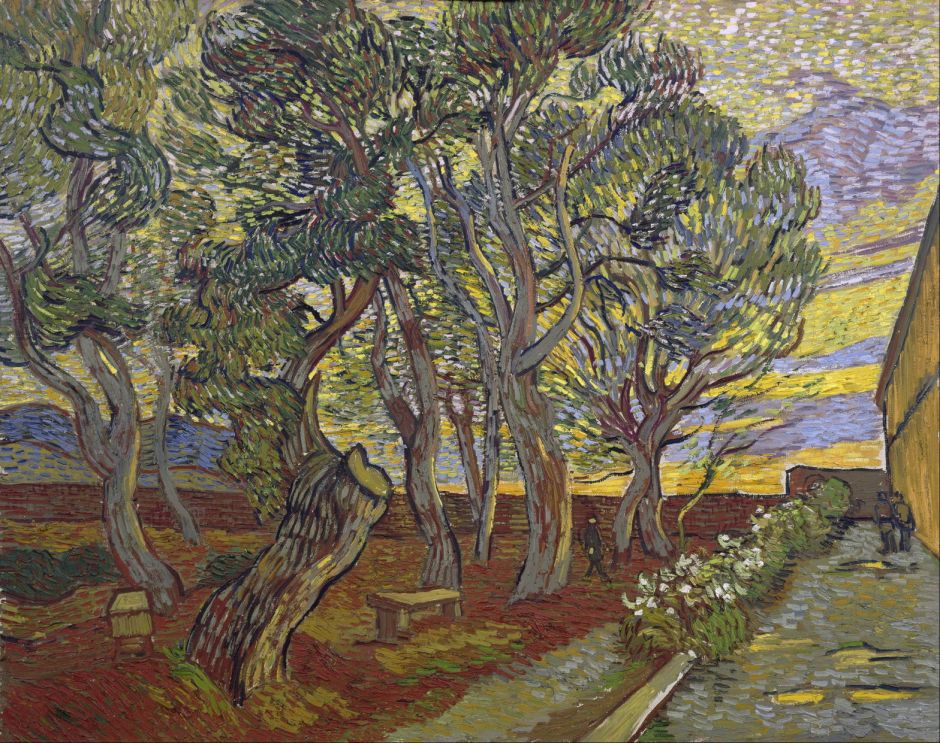Vincent van Gogh (1853–1890), The Garden of Saint Paul's Hospital (1889), oil on canvas, 71.5 x 90.5 cm, Van Gogh Museum, Amsterdam. Wikimedia Commons.