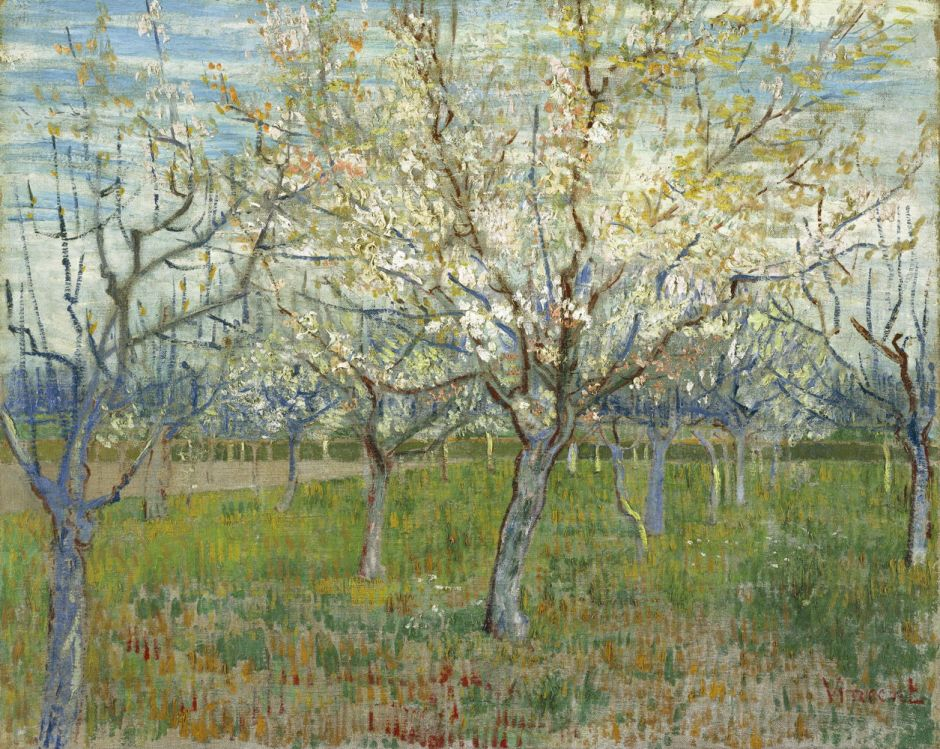 Vincent van Gogh (1853–1890), The Pink Orchard (1888), oil on canvas, 64 x 80 cm, Van Gogh Museum, Amsterdam. Wikimedia Commons.