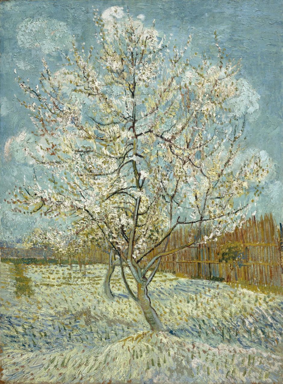 Vincent van Gogh (1853–1890), The Pink Peach Tree (1888), oil on canvas, 80.5 x 59 cm, Van Gogh Museum, Amsterdam. Wikimedia Commons.