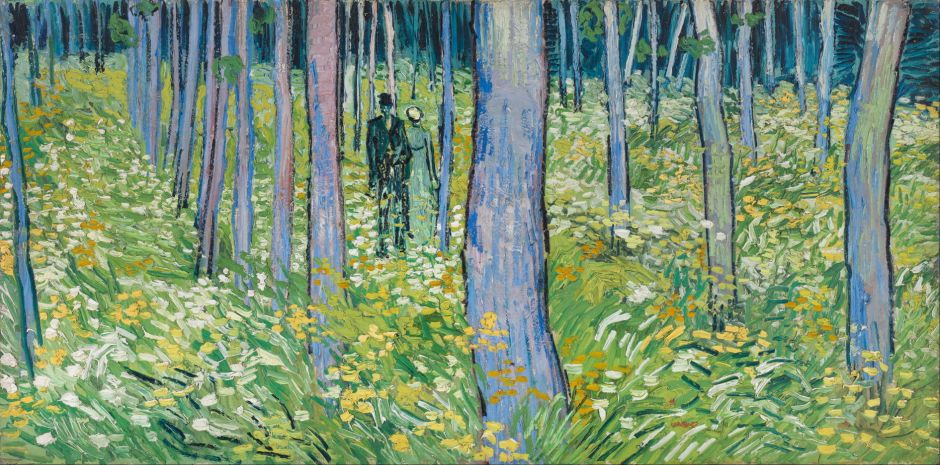Vincent van Gogh (1853–1890), Undergrowth with Two Figures (1890), oil on canvas, 49.5 x 99.7 cm, Cincinnati Art Museum, Cincinnati, OH. Wikimedia Commons.