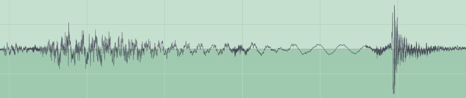 Waveform from sample audio file, lossless compression.