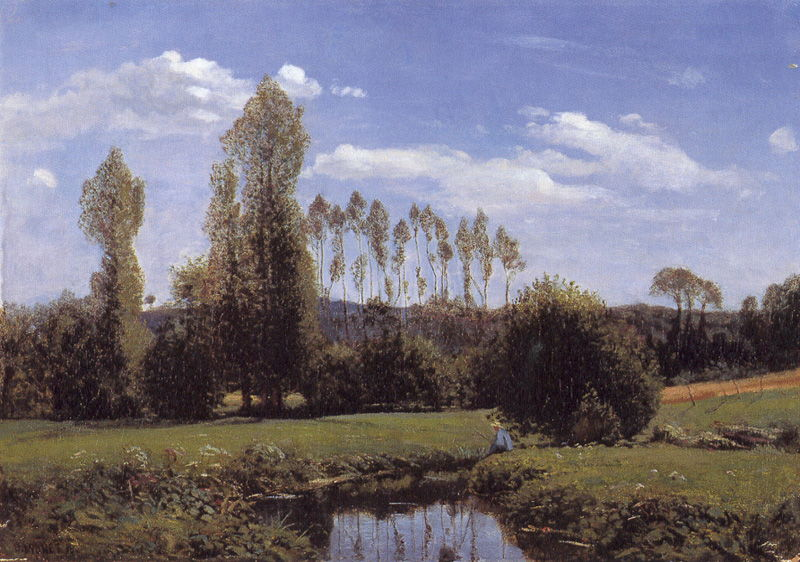 Landscape With Two Poplars