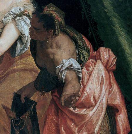 Paolo Veronese (Caliari) (1528–88), Judith and Holofernes (detail) (c 1580), oil on canvas, 195 x 176 cm, Musei di Strada Nuova, Genova. Wikimedia Commons.