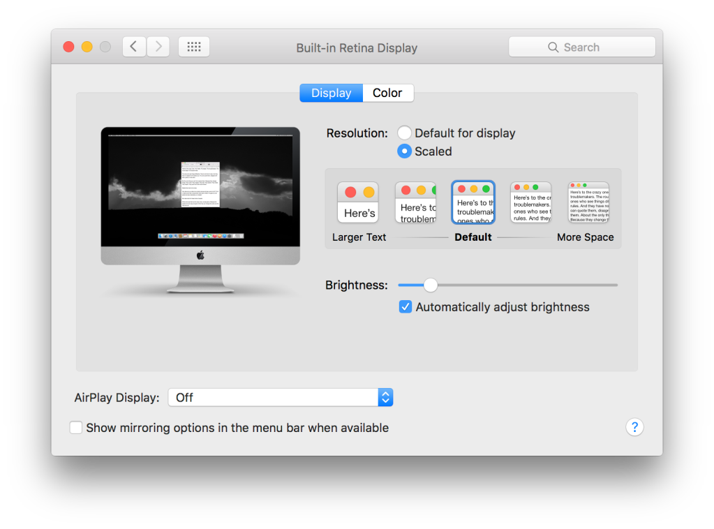 Apple's 27″ Retina 5K iMac display: small quirks, gorgeous