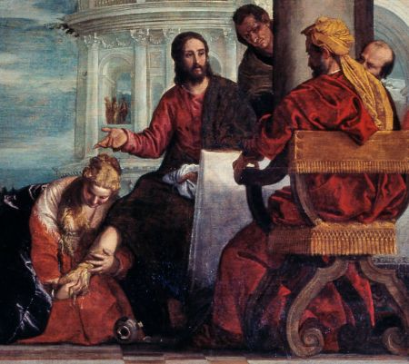 Paolo Veronese (1528–1588), The Feast in the House of Simon the Pharisee (detail) (1570), oil on canvas, 454 x 974 cm, Château de Versailles, Versailles. Wikimedia Commons.