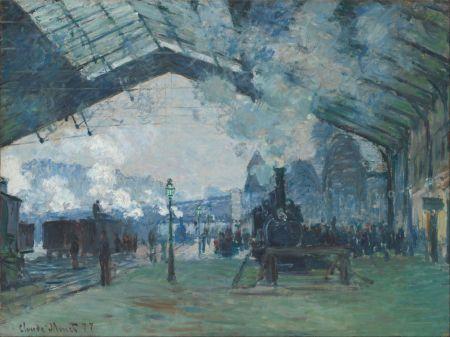 Claude Monet (1840–1926), Arrival of the Normandy Train, Gare Saint-Lazare (1877), oil on canvas, 59.6 x 80.2 cm, Art Institute of Chicago, Chicago, IL. Wikimedia Commons.
