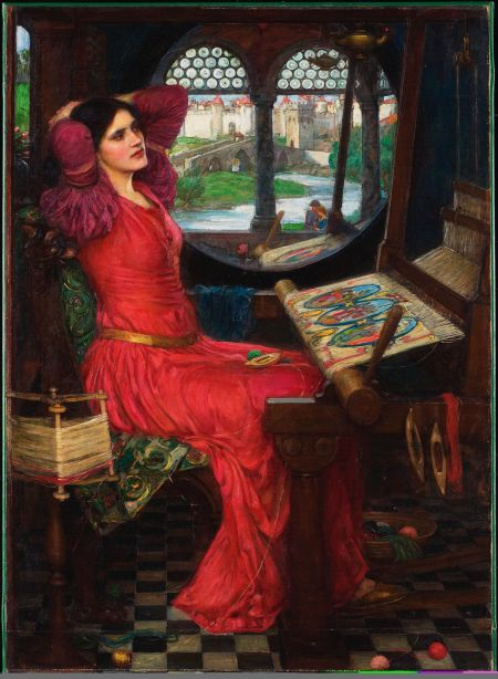 "John William Waterhouse (1849–1917), ""I am Half Sick of Shadows"" said the Lady of Shalott (1915), oil on canvas, 100 x 74 cm, Art Gallery of Ontario, Toronto, Canada. Wikimedia Commons."
