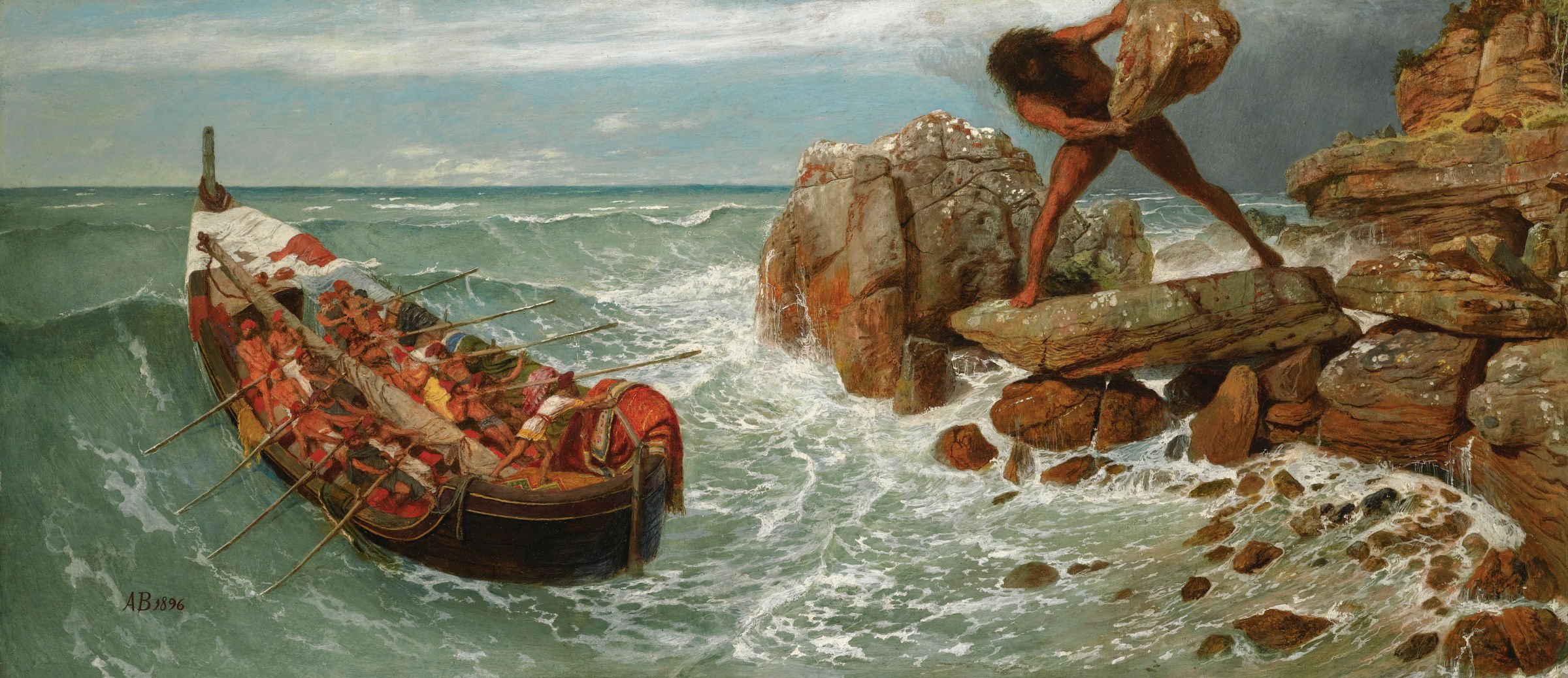 The Story in Paintings: Böcklin's classics and symbols ... Poseidon The Odyssey