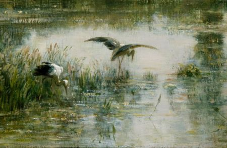 Charles-François Daubigny (1817–1878), The Pond at Gylieu (detail) (1853), oil on canvas, 62.2 x 99.7 cm, Cincinnati Art Museum, Cincinnati, OH. Wikimedia Commons.