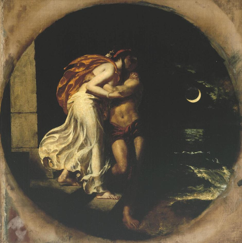 The Parting of Hero and Leander exhibited 1827 by William Etty 1787-1849