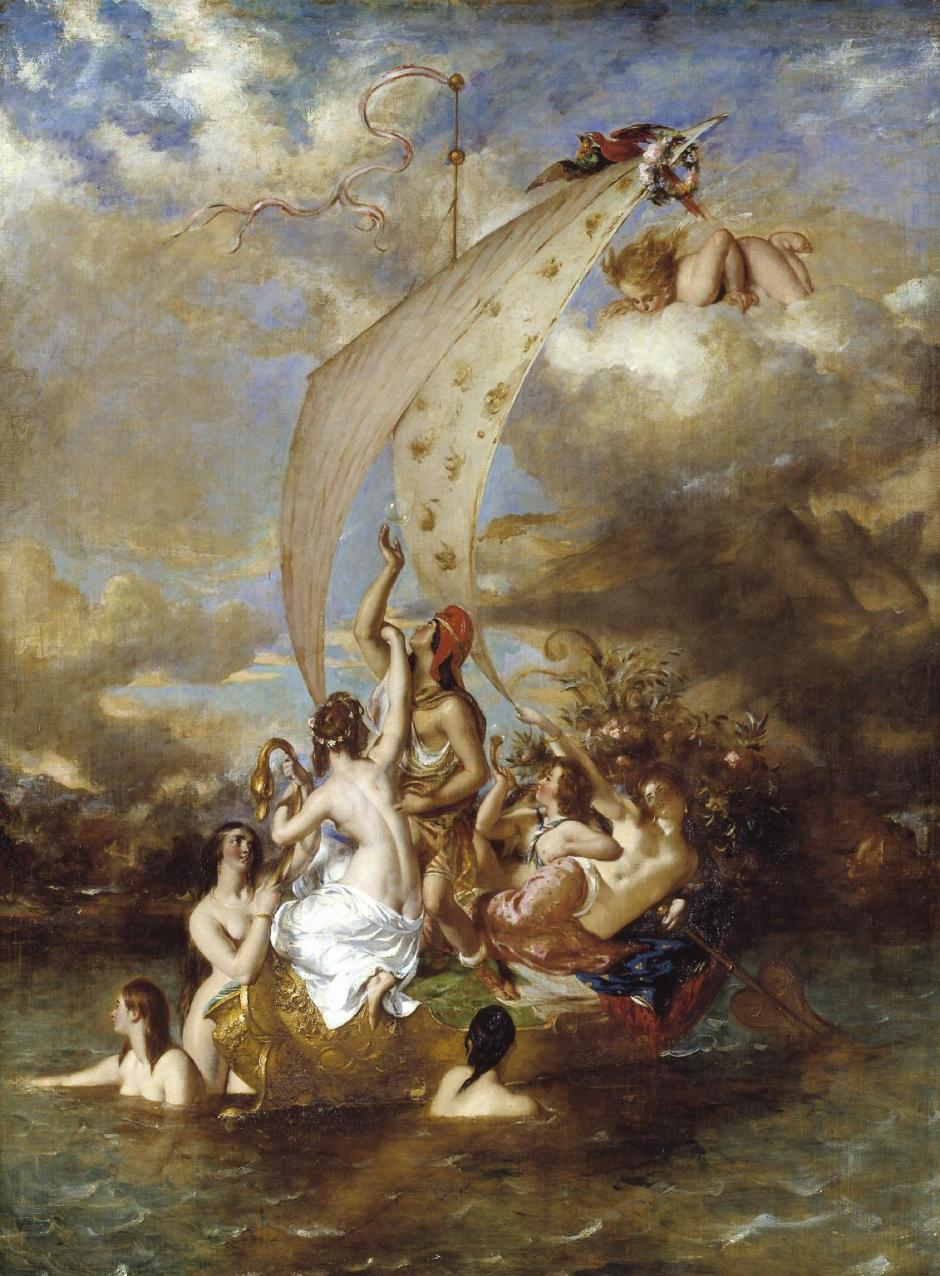 Youth on the Prow, and Pleasure at the Helm 1830-2, exhibited 1832 by William Etty 1787-1849