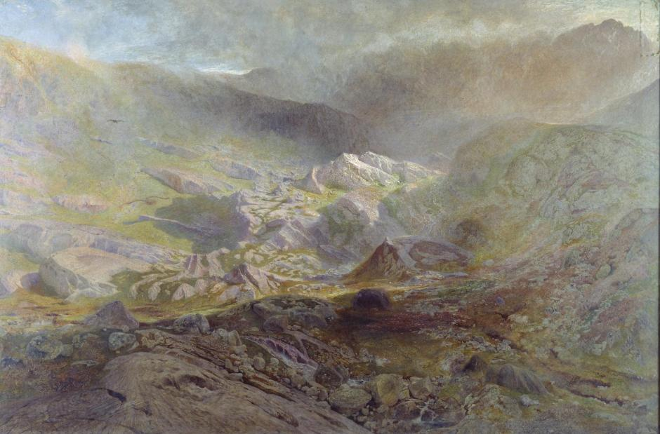 Cwm Trefaen c.1855-60 by Alfred William Hunt 1830-1896