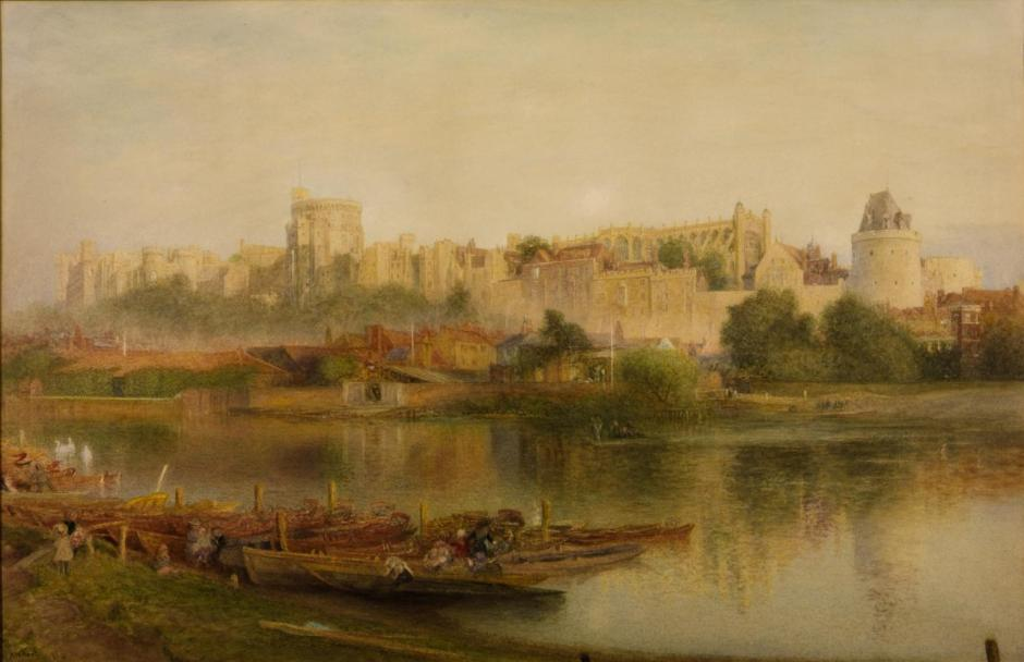 Windsor Castle 1889 by Alfred William Hunt 1830-1896