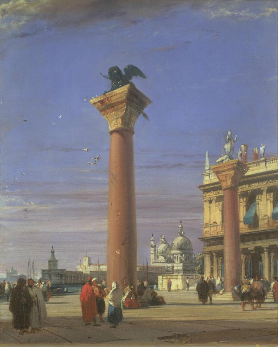 View of the Piazzetta near the Square of St Mark, Venice 1827, exhibited 1828 by Richard Parkes Bonington 1802-1828