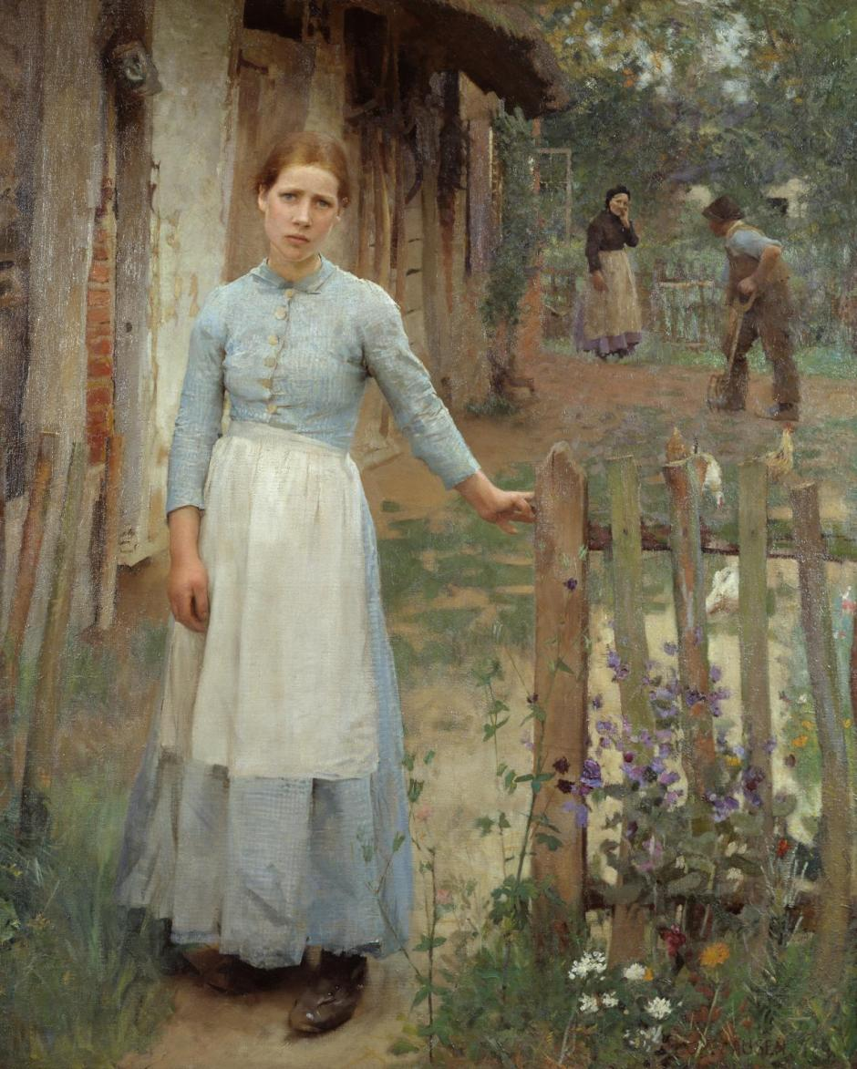 The Girl at the Gate 1889 by Sir George Clausen 1852-1944