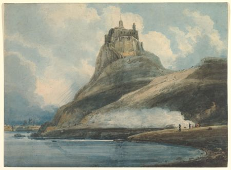 Thomas Girtin (1775–1802), Lindisfarne Castle, Holy Island, Northumberland (1796–97), watercolor, 38.1 × 52 cm, The Metropolitan Museum of Art (Rogers Fund, 1906), New York, NY. Courtesy of The Metropolitan Museum of Art.