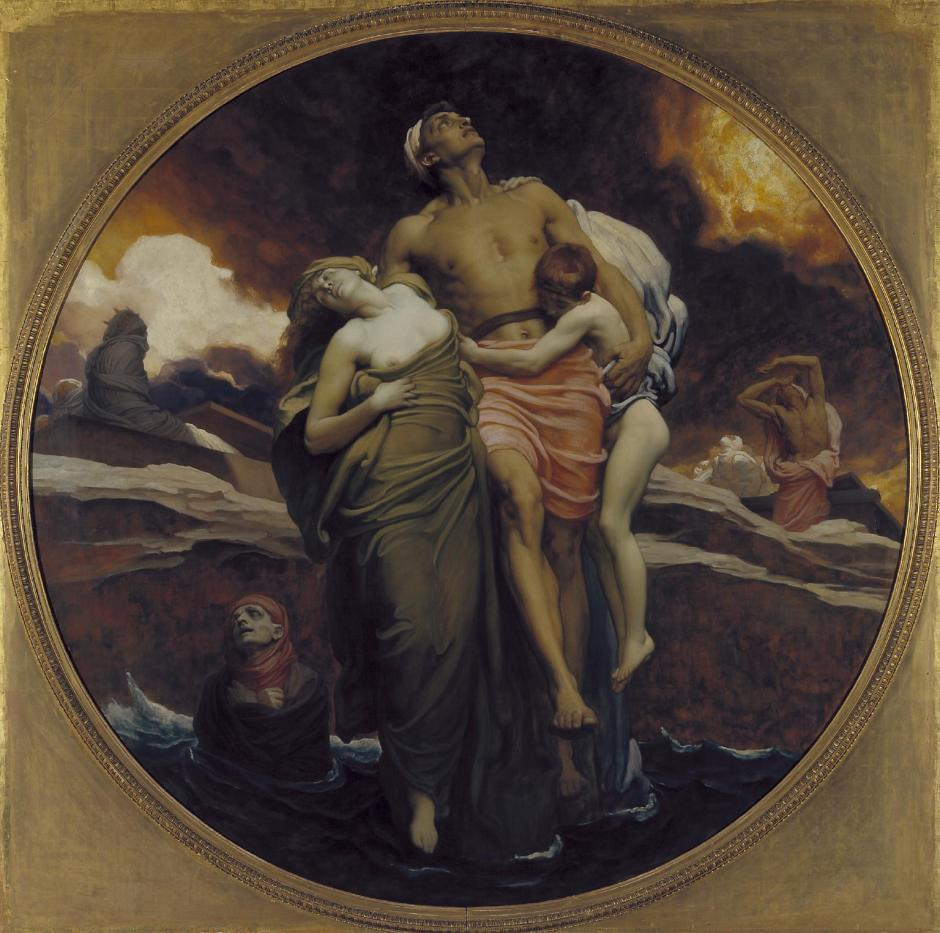 And the Sea Gave Up the Dead Which Were in It exhibited 1892 by Frederic, Lord Leighton 1830-1896